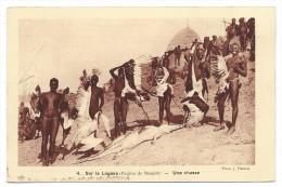SUR LE LOGONE DANS LA REGION DE BONGOR, UNE CHASSE - Tchad, Afrique  - Braun & Cie, Editeurs..