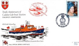 FDC - 10th Anniversary Of Calshot Lifeboat Station, RNLI Official Series Cover No.62 - Maritime