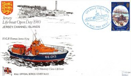 FDC - Jersey Lifeboat Open Day 1980, RNLI Official Series Cover No.63 - Maritime