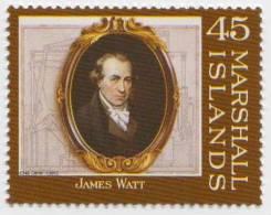 James Watt, Mechanical Engineer, Steam Engine, Railway, Transport MNH Marshall Islands - Trains