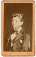 1879-CDV 1sur 4-Fernand AUGUSTIN Futur Directeur Banque Indochine à Shangaï-Chine-Photo Bertholet à Couvet (Suisse) - Anciennes (Av. 1900)