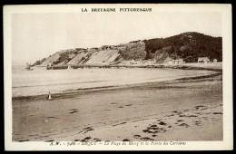 Cpa Du 22  Erquy  La Plage Du Bourg Et La Pointe Des Carrières AG15 25 - Erquy