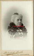 Vers 1900-CDV 2 Sur 2-mme AUGUSTIN âgée, Grand-mère De Stéphan Et Pierre-photo Robert De Greck  à Lausanne Suisse - Anciennes (Av. 1900)