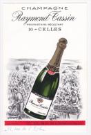 """Tarif Publicitaire Ilustré 8.5 X 13 Cm - Champagne """"Raymond Tassin"""" à Celles (10) - Propriétaire-Récoltant - Publicités"""