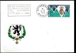 FRANCE   Lettre   1975   Liberation De Forbach - Guerre Mondiale (Seconde)
