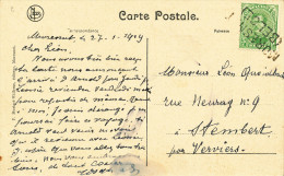 236/23 - CANTONS DE L´ EST - Carte-Vue TP Albert - MORESNET (BELGE)  Griffe Linéaire De FORTUNE 1919 - Poststempel