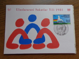 Maximumkaart, Kibris Turk Federe Devleti Postalari (Uluslararasi Sakatlar Yili 1981)  --> Unwritten - Turchia