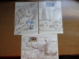 3 X Maximumkaart, Kibris Turk Federe Devleti Postalari   --> Unwritten (with Nice Stamps) - Turchia