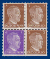 GERMANY 1941 REICH HITLER BOOKLET BLOCK   M.M.  FROM PANE MICHEL 118 - Se-Tenant