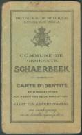 Carte D´identité Délivré Par La Commune De SCHAERBEEK à Aline LIEDTS Le 11-2-1907 - 10607 - Vieux Papiers