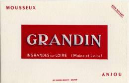 Buvard : GRANDIN - Mousseux  - ANJOU - INGRANDES sur LOIRE (Maine et Loire)