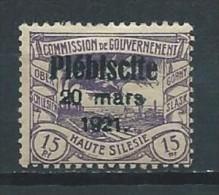 Allemagne - Plébiscites - Oberschlesien - 1921 - Michel 31 - Neuf * - Germany