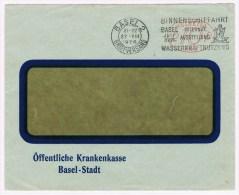 T6. EMA N°383. Suisse. Flamme = Binnenschiffahrt Wasserkraftnutzung. Basel 27.8.1926  Abeilles. - Api