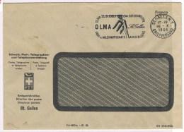 T6. Suisse. Flamme. OLMA = Land U Milchwirtschaftl. Ausstellung  St-Gallen 16.12.1944. ( Lait ) - Food