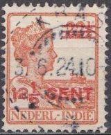 Ned. Indië: Langebalkstempel KRAS Op 1921-1922 Hulpuitgifte Koningin Wilhelmina 12 ½  / 22 ½  Ct  NVPH 143 - Indes Néerlandaises