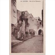 TGRTPA5933CPA-LFT7D1821TABU.Maroc .Morocco.TARJETA DE TANGER.Edificios,personas.calles,escaleras,animales,burros.TANGER - Burros