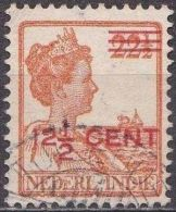 Ned. Indië: Langebalkstempel TJILEDOEK Op 1921-1922 Hulpuitgifte Koningin Wilhelmina 12 ½  / 22 ½  Ct  NVPH 143 - Indes Néerlandaises