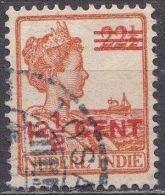 Ned. Indië: Langebalkstempel TOSARI Op 1921-1922 Hulpuitgifte Koningin Wilhelmina 12 ½  / 22 ½  Ct  NVPH 143 - Indes Néerlandaises