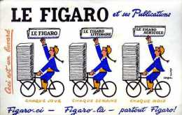 Buvard Le Figaro Par Savignac - Buvards, Protège-cahiers Illustrés