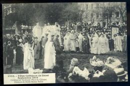 Cpa Du 29 Brest Fêtes Celtiques Septembre 1908 Cérémonies Bardiques Place Château Discours Barde Breton Taldir  AG15 23 - Brest
