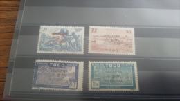 LOT 258083 TIMBRE DE COLONIE TOGO NEUF* N�211 A 214 VALEUR 23 EUROS