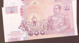 THAILAND 100 BAHT BE 2548 (2005) Serie 3H  King Rama V Chulalongkorn  P# 114  UNC - Thailand
