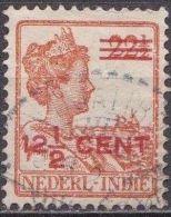 Ned. Indië: Langebalkstempel DJATIROTO Op 1921-1922 Hulpuitgifte Koningin Wilhelmina 12 ½  / 22 ½  Ct  NVPH 143 - Indes Néerlandaises