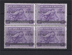 Ruanda Urundi - 115 - Block Of 4 - Meulemans - Overprint - 1941 - MNH - CV : 60€ - Ruanda-Urundi