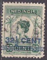 Ned. Indië: Langebalkstempel BLITAR Op 1921-22 Hulpuitgifte Koningin Wilhelmina Met Opdruk 32½ / 50 Cent NVPH 145 Aa - Indes Néerlandaises