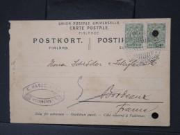 FINLANDE -Entier Postal Voyagé Pour Bordeaux En 1912  à Voir    P4730 - Finlandia