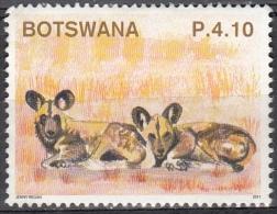 Botswana, 2011 - 4,10p Wild Dogs - Nr.927 Usato° - Botswana (1966-...)