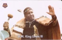 TARJETA DE LESOTHO DE M50 DEL REY LETSIE III (KING)