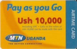TARJETA DE UGANDA DE MTN DE USH 10000 (PAY AS YOU GO) - Uganda