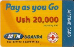 TARJETA DE UGANDA DE MTN DE USH 20000 (PAY AS YOU GO) RED CROSS-CRUZ ROJA - Uganda