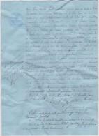 Lot Vieux Papiers : Orne  Généalogie : Saire La Verrerie, Famille Levillain - Briouze Chédot ? ,domfront  Huissier Guign - Factures & Documents Commerciaux