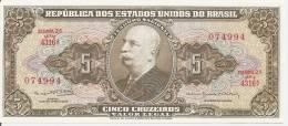 BRESIL 5 Cruzeiros ND1962 UNC P 176 D - Brazil