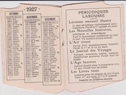 Calendrier :  1927 , Nouveau Petit  Larousse  Illustré   , Paris  6 Em - Calendriers