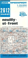 Carte IGN Neuilly St Front 1/25000 Faverolles Longpont Chacrise Hartennes Quichy - Cartes Topographiques