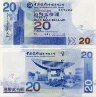 HONG KONG - BoC     20 Dollars     P-335a       1.7.2003         UNC - Hong Kong