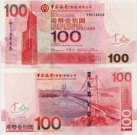 HONG KONG - BoC         100 Dollars        P-337d       1.1.2007       UNC - Hong Kong