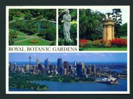 AUSTRALIA  -  Sydney  Royal Botanic Gardens  Multi View  Used Postcard As Scans - Sydney