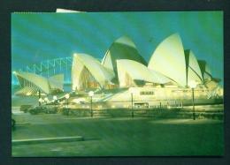 AUSTRALIA  -  Sydney  Opera House At Night  Used Postcard As Scans - Sydney