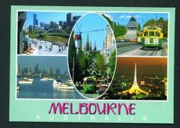 AUSTRALIA  -  Melbourne  Multi View  Used Postcard As Scans - Melbourne