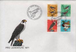 Switzerland - Pro Juventute 1971. Animals / Birds Set On FDC - Oiseaux