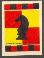Chess Schach Echecs Ajedrez Matchbox Label Estonia 1956-60 RARE - Cajas De Cerillas - Etiquetas