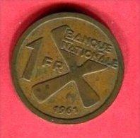 1 FRANC 1961  (km 1)  TB  5 - Zaïre (1971-97)