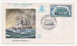FDC Lettre CINQ MATS FRANCE II ( 3000 T )9 Juin1973  N° 1762 Y. Et T. - FDC