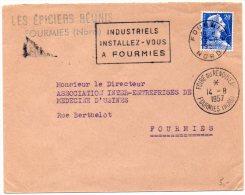 Muller 20F Sur Lettre De 1957 - Flamme De Fourmies Du 13.8 Et CaD Temporaire 'Foire Du Renouveau' Du 14.8 - 1921-1960: Moderne
