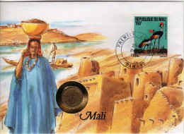 Mali 1994. Animals / Birds Special FDC With Coins !!! - Oiseaux