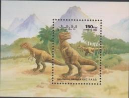 O) 1992 SAHARA, DINOSAURS, SOUVENIR MNH - Fantasy Labels